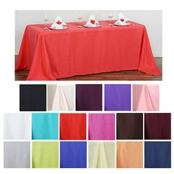 "90x132"" Polyester Rectangle Tablecloths For Wedding Party Ba"