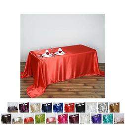 90x132 rectangle satin tablecloth