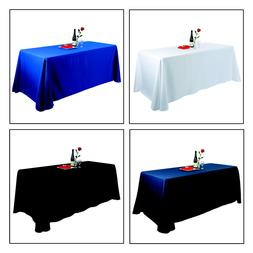 E-TEX 90x156Inch Oblong Polyester Tablecloth for 8 Foot Rect