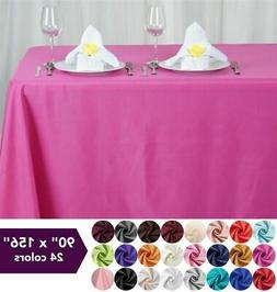 """90x156"""" Polyester Tablecloth Wedding Table Linens Catering D"""