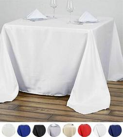 """90x90"""" SQUARE POLYESTER Tablecloth Cheap Table Linens Decora"""