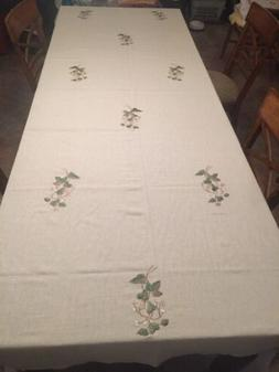 Beautiful Natural Belgian Linen Banquet Length Tablecloth 10