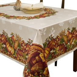 Benson Mills Harvest Splendor Engineered Printed Fabric Tabl