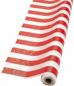 Fun Express SYNCHKG028647 Red and White Striped Tablecloth R