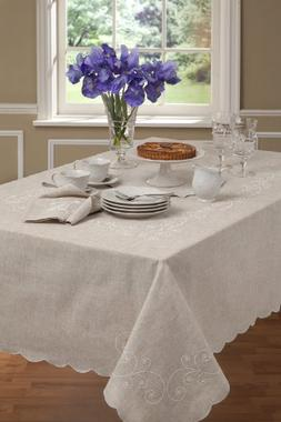 "Lenox French Perle 60"" x 120"" Tablecloth"