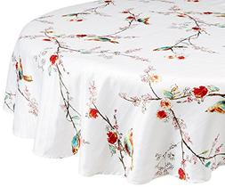 Lenox Linens - Chirp Print - Tablecloth 70 Round