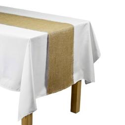 LinenTablecloth Jute Table Runner with Fringe Edge, 12.5 by
