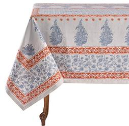 "Mahogany Bindiya Navy Tablecloth, 60"" x 120"""