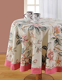 ShalinIndia Round Floral Tablecloth - 60 inches in Diameter