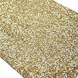 TRLYC Sequin Table Runner, 13 By 60-Inch Tablecloths, Gold