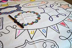 The Coloring Table - Colorable Frame Fun Tablecloth - Square