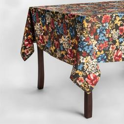 """Threshold ~ FLORAL ~ Oblong 60"""" x 84"""" Tablecloth Kitchen Tab"""