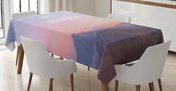 Adventure Quote Tablecloth Ambesonne 3 Sizes Rectangular Tab