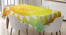 Ambesonne Quotes Tablecloth Sunshine Phrase Rectangular Tabl