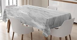 Ambesonne Apartment Decor Tablecloth, Retro Marble Pattern w