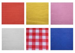 ASSORTED COLOR FLANNEL-BACKED VINYL TABLECLOTH HEAVY DUTY, A