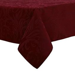 Autumn Scroll Damask Wine Tablecloth, 60-by-120 Rectangular