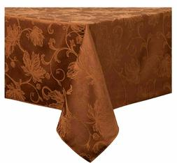 Autumn Vine Damask Tablecloth in Bronze - Choice of Sizes