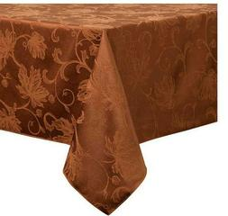 """Autumn Vine Tablecloth Damask 90"""" Round Thanksgiving Fall"""