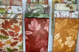 Autumn Vinyl Cloth Backed Tablecloth. Round, Square, Oblong.