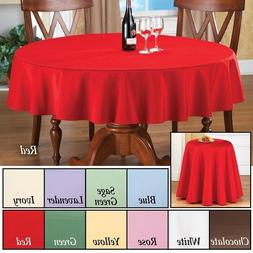 Basic 70 Inch Round Dining Kitchen Tablecloth Fabric Topper