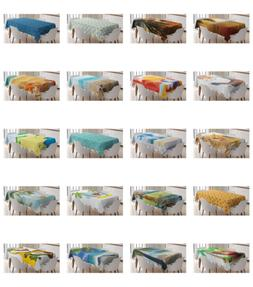 Ambesonne Beach Graphic Tablecloth Table Cover for Dining Ro