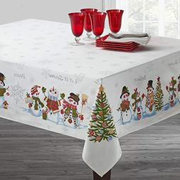Benson Mills Believe Snowman Engineered Printed Tablecloth f
