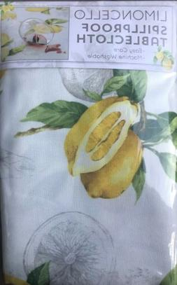 Benson Mills Limoncello Indoor Outdoor Spillproof Tablecloth