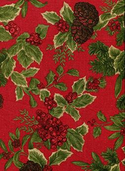 birchmont red holly christmas round