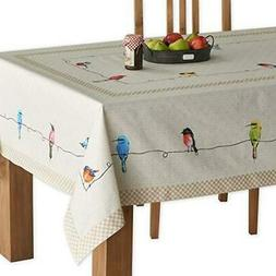 Maison d' Hermine Birdies On Wire 100% Cotton Tablecloth 60