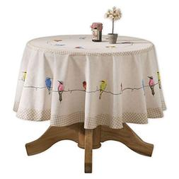 Maison d' Hermine Birdies On Wire 100% Cotton Tablecloth 63