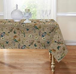 Birds Fabric Tablecloth By GoodGram® - Assorted Sizes