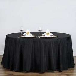 BLACK 120 Inch ROUND TABLECLOTH Wedding Decorations Party Ta