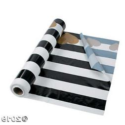 Black & White Valentine Tablecloth Roll 40 inches by 100 fee
