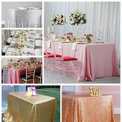Bling Bling Rectangle Sequin Tablecloth for Party Wedding Ba