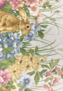 blooming bunny rabbit easter egg border cloth