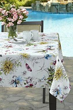 Blooming Floral Indoor/Outdoor Spillproof Tablecloth