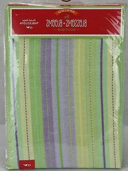 Blossoms & Blooms Spring Green Purple Pastel Stripe 60X120 O