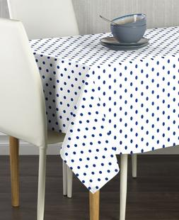 Blue Nautical Dot Signature Tablecloth Assorted Sizes