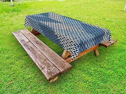 Blue Outdoor Picnic Tablecloth in 3 Sizes Decorative Washabl