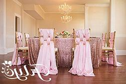 TRLYC Blush 60 x 120-Inch Rectangular Sequin Tablecloth for