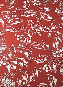 RALPH LAUREN Bowen Red/Silver Tablecloth, 60-by-84 Inch Oblo