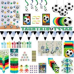 Football Birthday Party Boys Soccer Banner Decorations Table