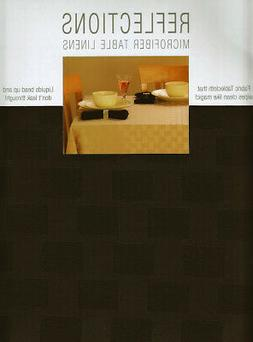 Brown Round Tablecloth 70 inch Patterned Fabric Reflections