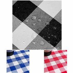 Buffalo Check Plaid Fabric Tablecloth Spill Proof Stain and