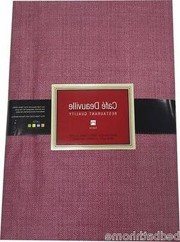 Burgundy Vinyl Tablecloth - Café Deauville Vinyl Tablecloth