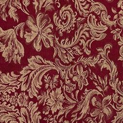 Burgundy Wheat Damask Tablecloth rectangle  cotton blend 6 s