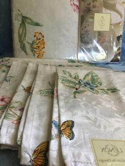 "🌸 Lenox Butterfly Meadow 60"" x 102"" Tablecloth With 6"