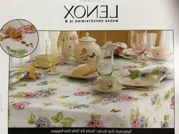 LENOX BUTTERFLY MEADOW FLORAL WATER REPELLENT OBLONG TABLECL