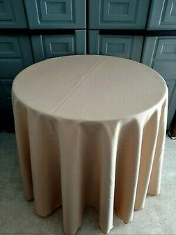 camel tan polyester Tablecloth - Oval,Square,Rectangular,Rou